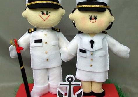 boneka couple profesi pelaut pelayaran