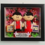 kado wedding boneka unik